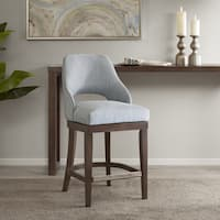 Madison Park Marshall Blue Counter Stool with Swivel Seat