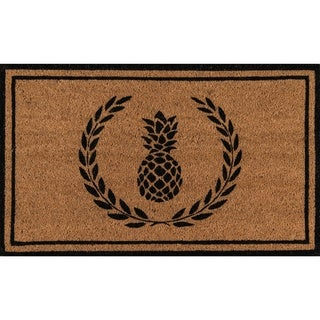 Erin Gates by Momeni Park Pineapple Hand-woven Natural Coir Doormat)