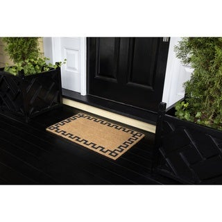 "Erin Gates by Momeni Park Greek Key Natural Hand Woven Natural Coir Doormat - 1'6"" x 2'6"""
