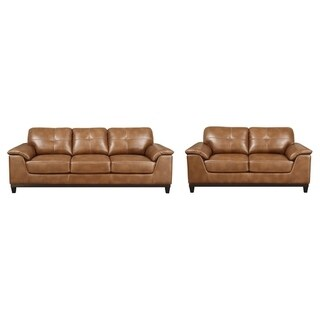 Emerald Home Marquis Chestnut Sofa & Loveseat Set