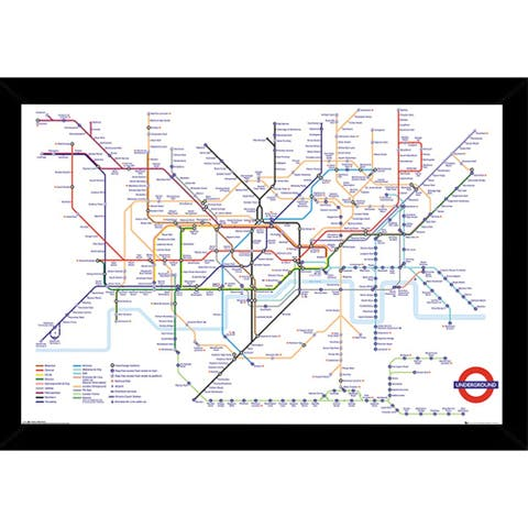 Transport For London Underground Poster with Choice of Frame (24x36)