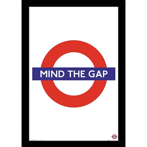 Transport For London Mind The Gap Poster With Choice of Frame (24x36)