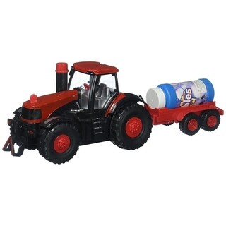 Happy Bubbles Bump & Go Bubble Blowing Battery Operated Toy Tractor