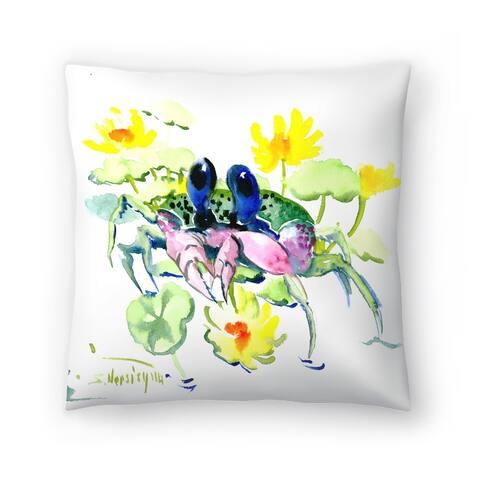 Americanflat 'Baby Crab Blue Eyes' Throw Pillow