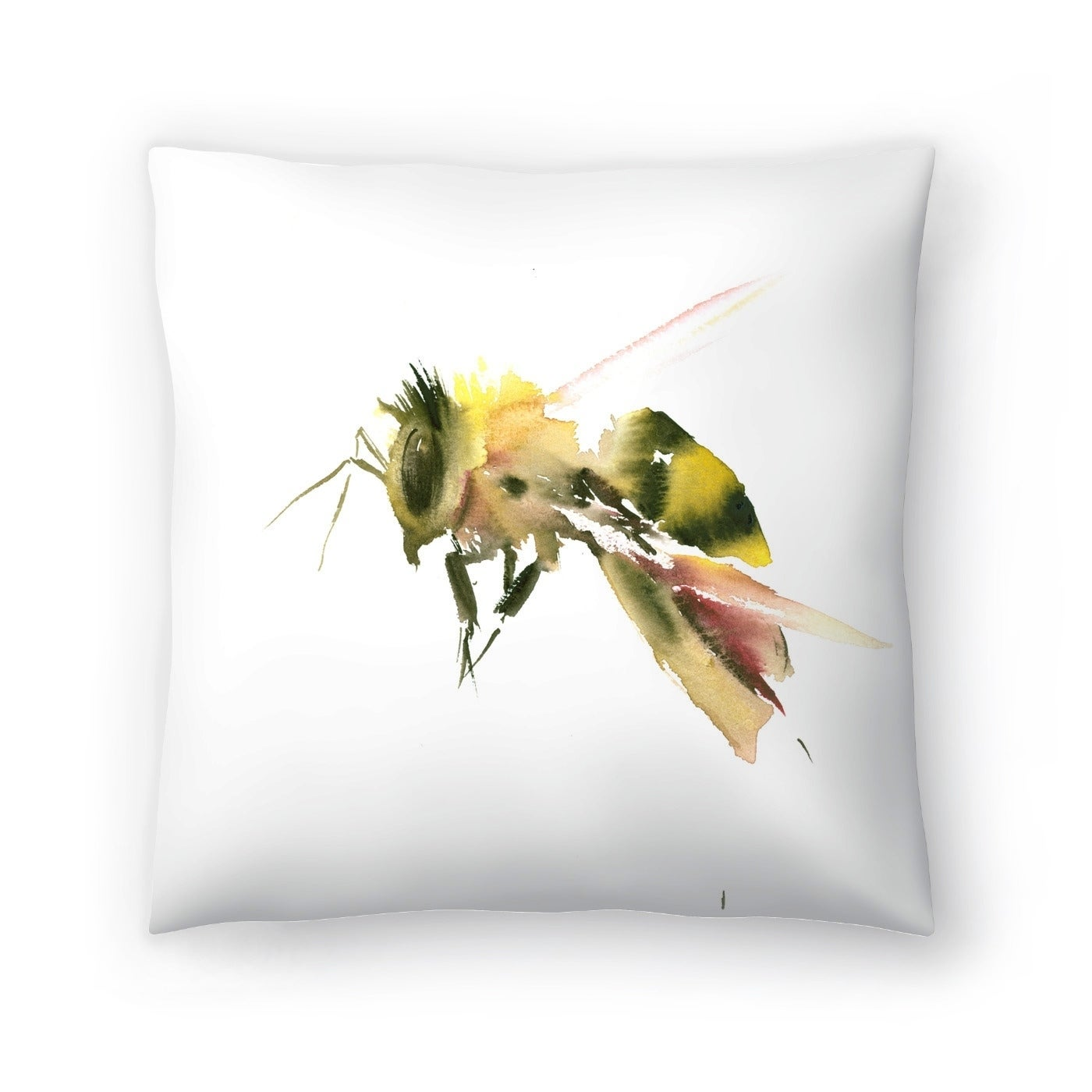 Americanflat Bee 2 Throw Pillow (Medium - 18 x 18)