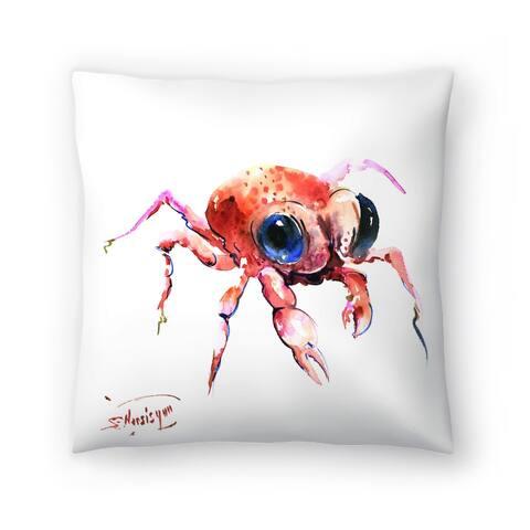 Americanflat 'Baby Crab' Throw Pillow