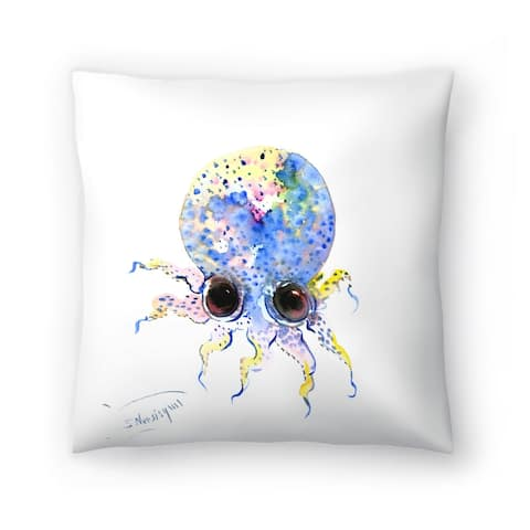 Americanflat 'Baby Octopus Blue' Throw Pillow