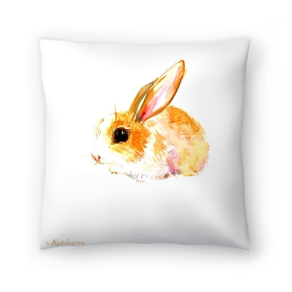 Americanflat 'Baby Bunny' Throw Pillow