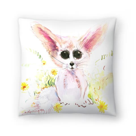 Americanflat 'Baby Fennec' Throw Pillow