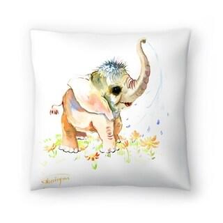 Americanflat 'Baby Elephant' Throw Pillow
