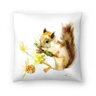 Americanflat 'Baby Squirrel' Throw Pillow