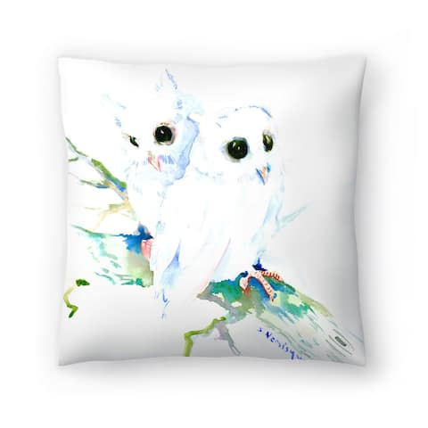 Americanflat 'Baby Northern Owls' Throw Pillow