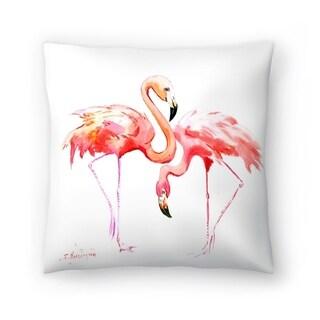 Americanflat 'Flamingos' Throw Pillow