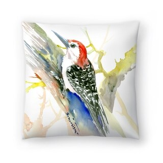 Americanflat 'Red Bellied Woodpecker' Throw Pillow