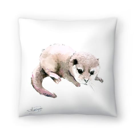 Americanflat 'Baby Otter' Throw Pillow