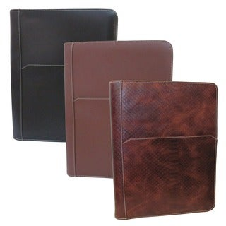 Amerileather Leather Zip Writing Portfolio Cover