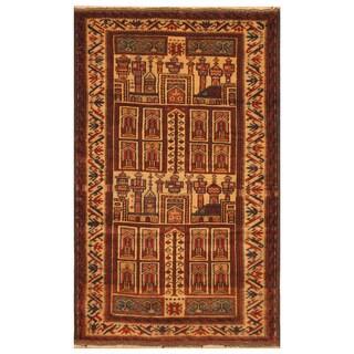 Handmade Balouchi Wool Rug (Afghanistan) - 2'7 x 4'2
