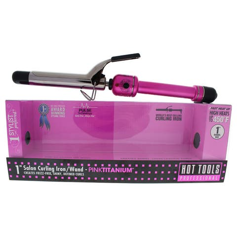 Hot Tools Pink Titanium Salon 1-inch Curling Iron