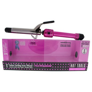 Hot Tools Pink Titanium Salon 1-inch Curling Iron