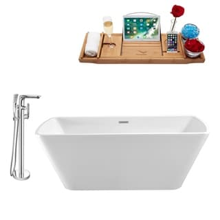 "Tub, Faucet and Tray Set Streamline 59"" Freestanding NH680-120"