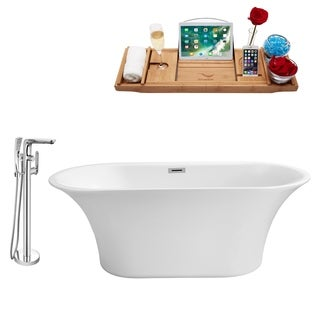 """Faucet and Tub Set Streamline 59"""" Freestanding NH840-120"""
