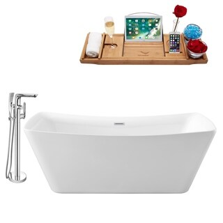 """Faucet and Tub Set Streamline 62"""" Freestanding NH540-120"""