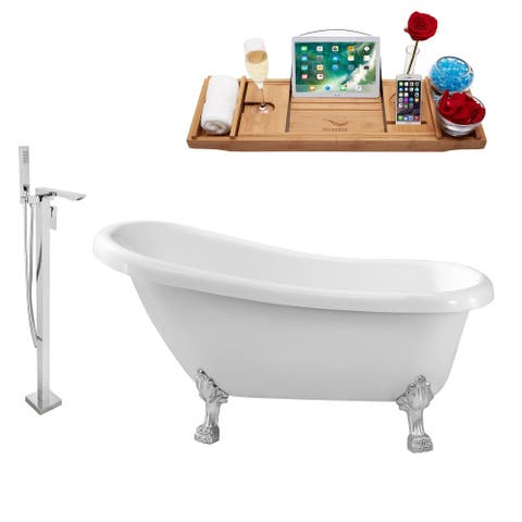 "Tub, Faucet and Tray Set Streamline 61"" Clawfoot NH480CH-140"
