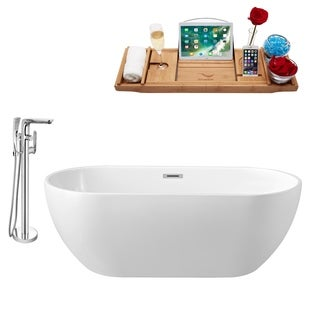 """Faucet and Tub Set Streamline 59"""" Freestanding NH140-120"""