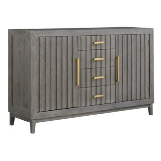 Emerald Home Carrera Slate Gray Buffet with Four Drawers And Six Hidden Shelves