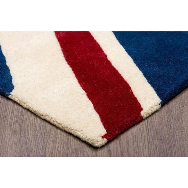 Union Jack Wool Rug 4 10 X 7