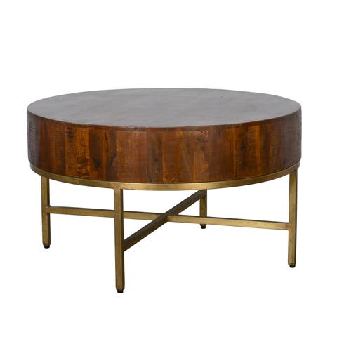 Montreal 32 inch Round Coffee Table by Kosas Home