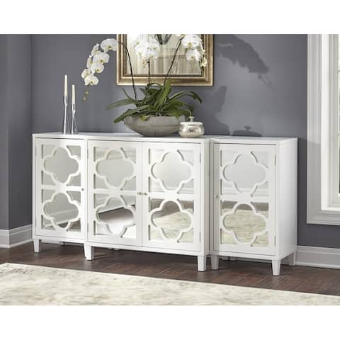 Lifestorey Broadway 3-Piece Mirrored Cabinet Set