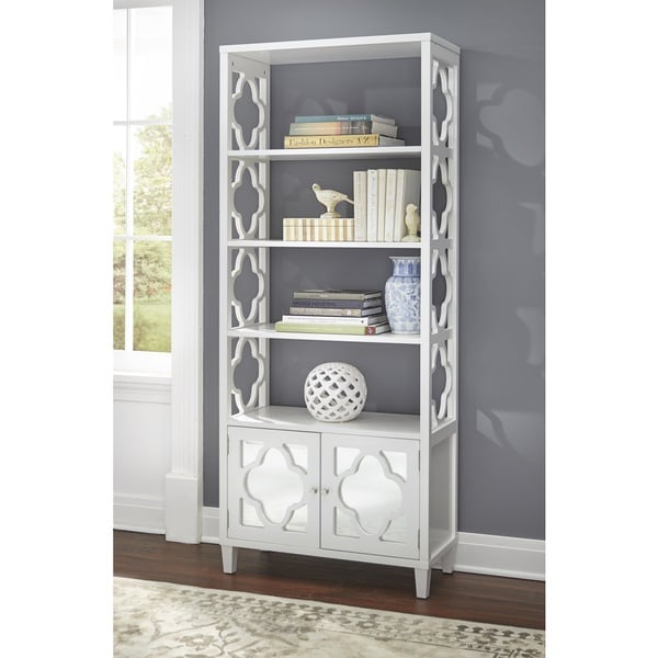 Shop Lifestorey Broadway Mirrored Bookcase Free Shipping Today Overstock 20506489