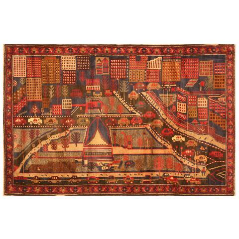 Handmade One-of-a-Kind Balouchi War Rug (Afghanistan) - 3'2 x 4'11