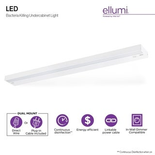 Ellumi Undercabinet Antibacterial Light Linkable Disinfection System