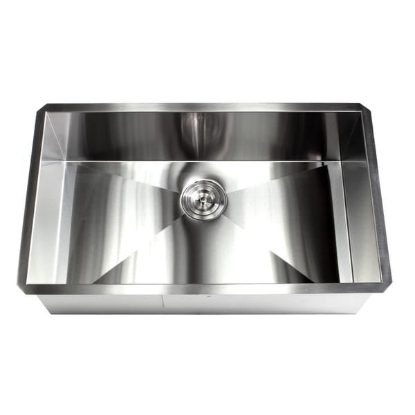 Shop 32 Inch Stainless Steel 16 Gauge Single Bowl
