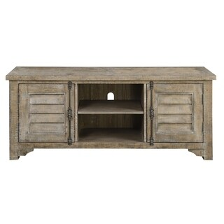 Emerald Home Interlude Sandstone Gray entertainment center E560-01