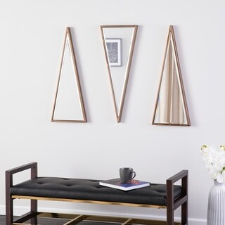 Holly & Martin Wykes 3pc Mirror Set - Contemporary Style - Champagne