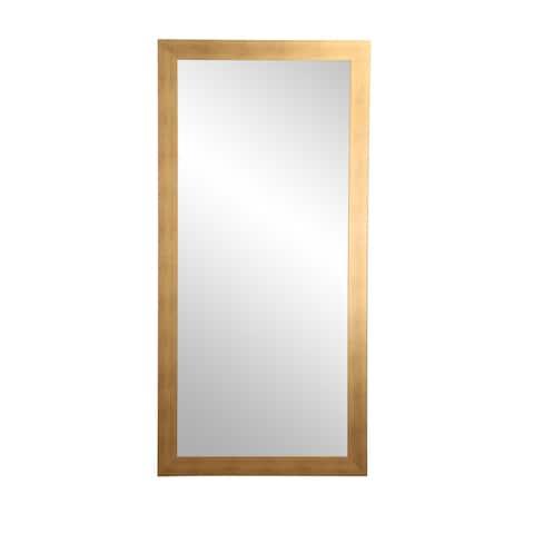 Brushed Gold Floor Mirror