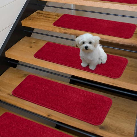 Luxury Collection Soft Solid Shaggy Non-Slip Stair Treads