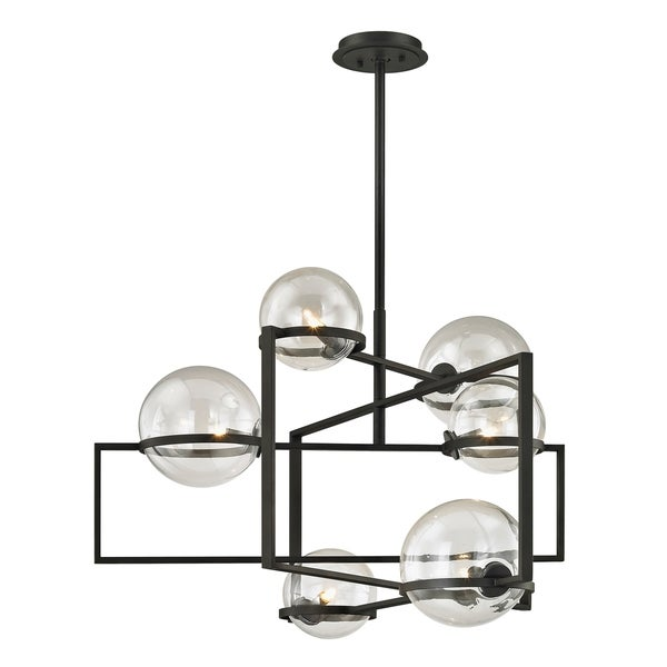 Troy Lighting Elliot 6-light Textured Black Pendant