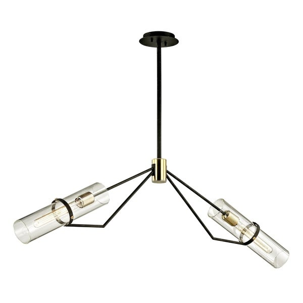 Troy Lighting Raef 2-light Textured Bronze Linear Pendant