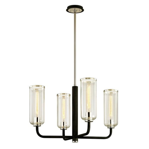 Troy Lighting Aeon 4-light Carbide Black Chandelier