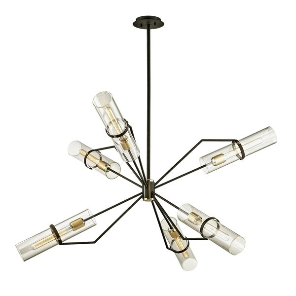 Troy Lighting Raef 50-inch Textured Bronze Chandelier