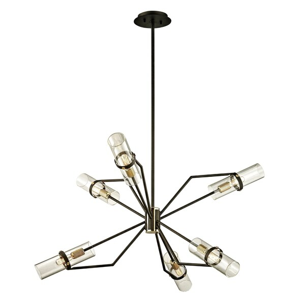 Troy Lighting Raef 36-inch Textured Bronze Chandelier