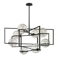 Troy Lighting Elliot 8-light Textured Black Pendant