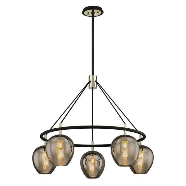 Troy Lighting Iliad 5-light Carbide Black Pendant