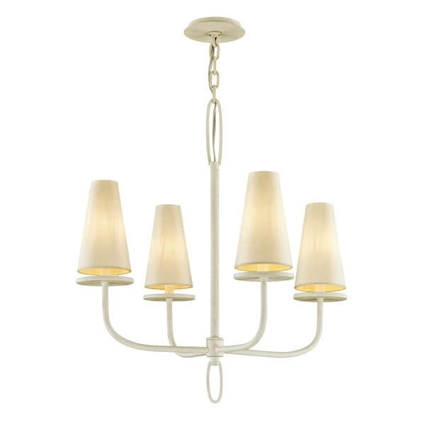 Troy Lighting Marcel 4-light Gesso White Chandelier
