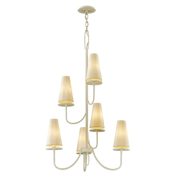 Troy Lighting Marcel 6-light Gesso White Chandelier