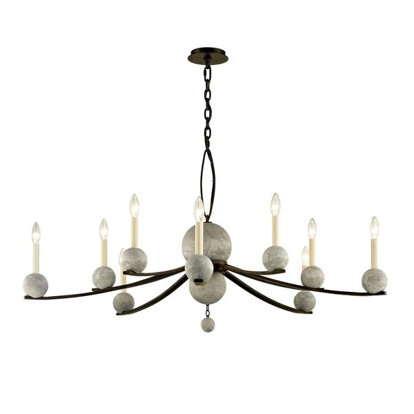 Troy Lighting Tallulah 10-light Natural Rust Chandelier
